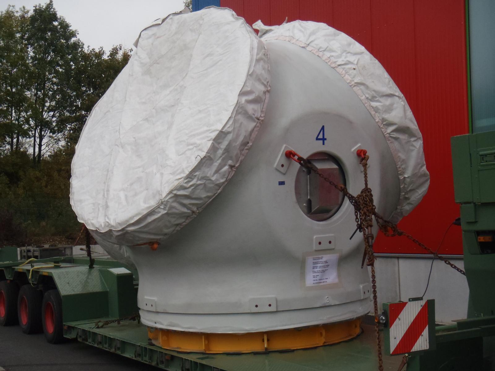 Abdeckung für den Transport von Windradmodulen | Rothschenk Individuallösungen