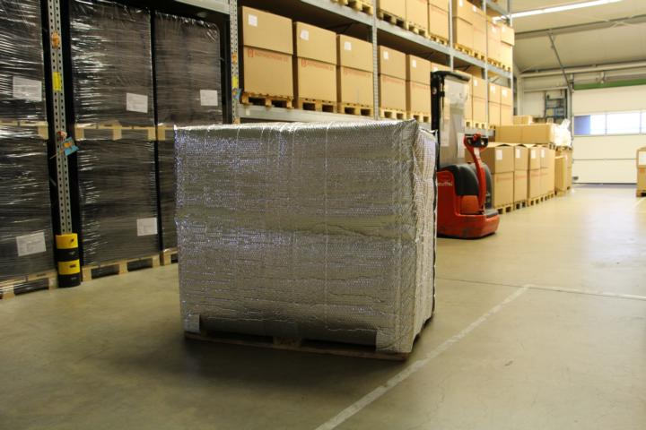 A special thermo cover for pallets.
