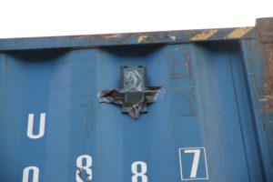 Eingangskontrolle Container